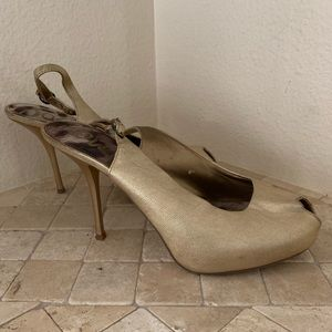 Sam Edelman Gold Stilettos